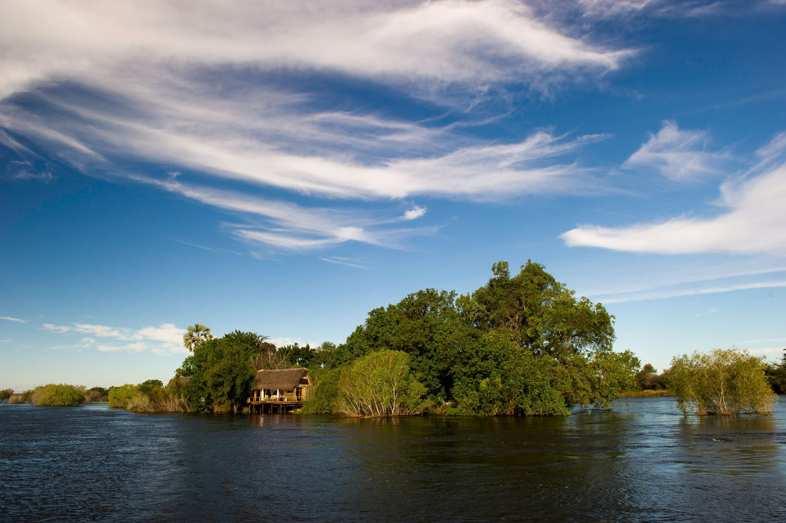 Africa,Botswana,Victoria Falls, Sindabezi Island Lodge