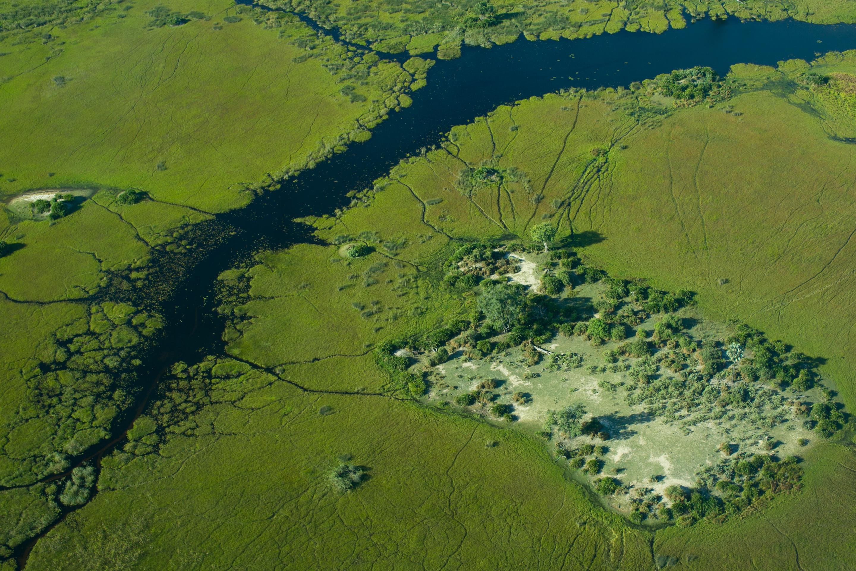 Africa,Botswana,Delta del Okavango,paisaje,vista aérea